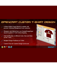 OpenCart Custom T-shirt Design