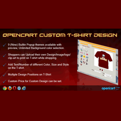 Скачать OpenCart Custom T-shirt Design на сайте rus-opencart.info