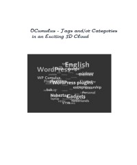 OCumulus - Tags and/or Categories in an Exciting 3D Cloud