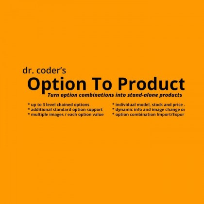Скачать Option To Product на сайте rus-opencart.info