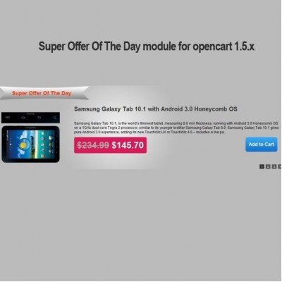 Скачать Super Offer Of The Day module for opencart 1.5.x на сайте rus-opencart.info