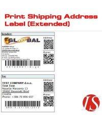 Print Shipping Address Label, распечатать лейбу адреса доставки