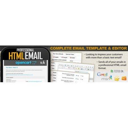Скачать Профессиональный HTML редактор шаблона электронной почты на сайте rus-opencart.info