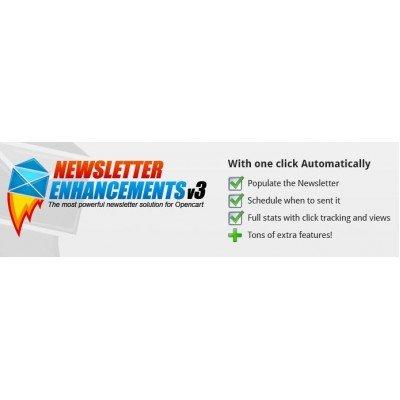 Скачать Рассылка, Newsletter Enhancements - V3 - vQmod на сайте rus-opencart.info
