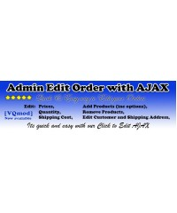 Admin Edit Order  with AJAX, редактор заказа