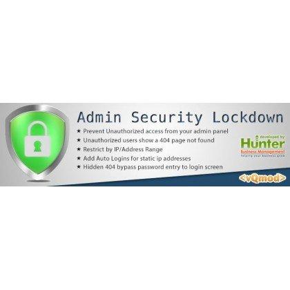 Скачать Admin Login Security Lockdown Suite, защита админки на сайте rus-opencart.info