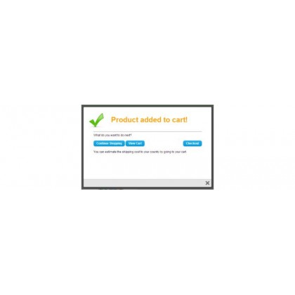 Скачать Checkout success Popup на сайте rus-opencart.info