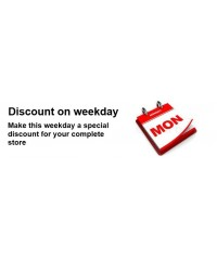 Discount for a weekday, Скидка на будний день