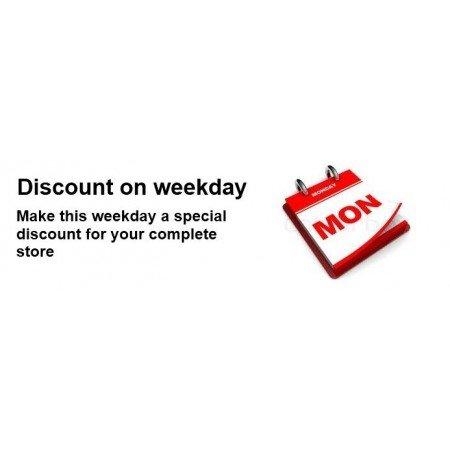 Скачать Discount for a weekday, Скидка на будний день на сайте rus-opencart.info