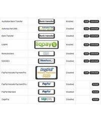 Payment Icons v1.8, Иконки методов оплаты