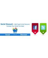 Social Discount - специальные скидки за отзывы в соц. сетях