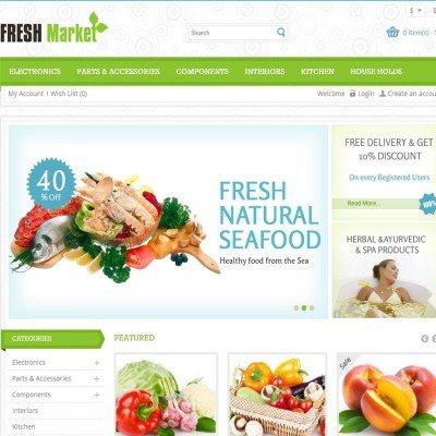Скачать Fresh Market - OpenCart Responsive Theme на сайте rus-opencart.info