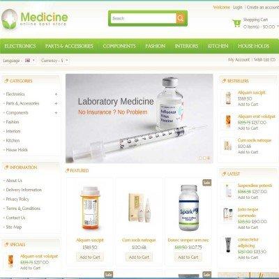 Скачать Medicine - Opencart Responsive Template на сайте rus-opencart.info