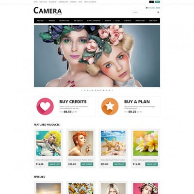 Скачать Photo Bank OpenCart Template на сайте rus-opencart.info
