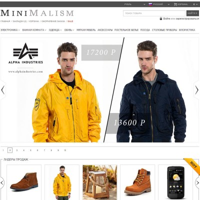 Скачать MiniMalism - универсальный шаблон на сайте rus-opencart.info