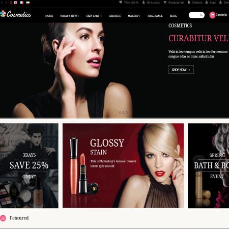 Скачать Pav Cosmetics Responsive Opencart Theme на сайте rus-opencart.info