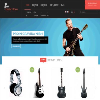 Скачать Pav Music Store Responsive Opencart Theme на сайте rus-opencart.info