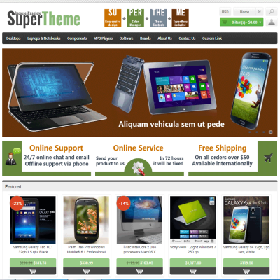 Скачать SuperTheme - Responsive Template на сайте rus-opencart.info