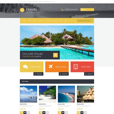 Скачать Travel Store OpenCart Template на сайте rus-opencart.info