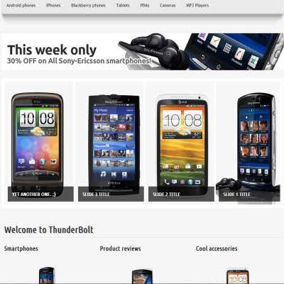 Скачать Thunderbolt - premium OpenCart theme на сайте rus-opencart.info