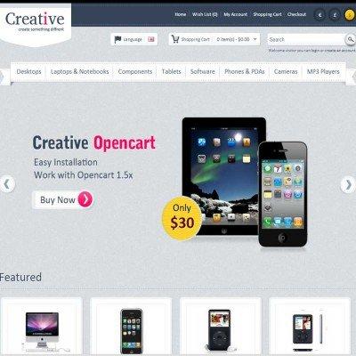 Скачать Creative Opencart Theme на сайте rus-opencart.info