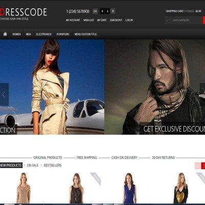 Скачать Dresscode - Responsive OpenCart Theme на сайте rus-opencart.info