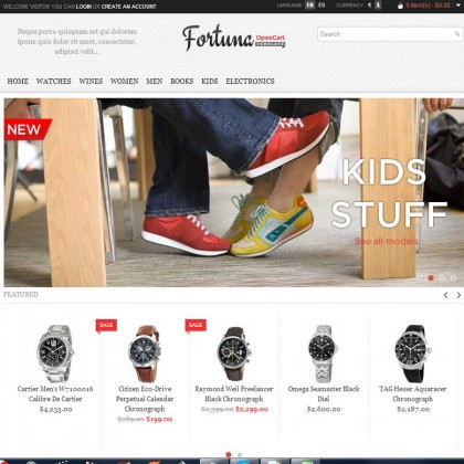 Скачать Fortuna - Elegant and responsive OpenCart theme на сайте rus-opencart.info