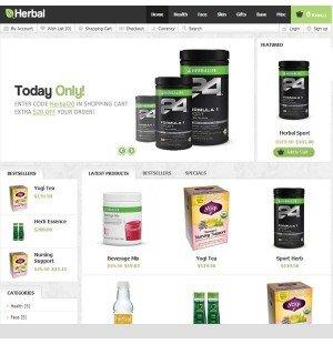 Скачать Herbal OpenCart Theme на сайте rus-opencart.info