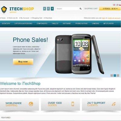 Скачать iTechShop OpenCart Theme на сайте rus-opencart.info
