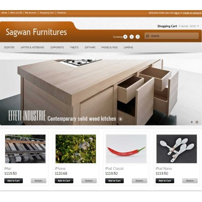 Скачать Sagwan Furniture s Opencart Theme на сайте rus-opencart.info