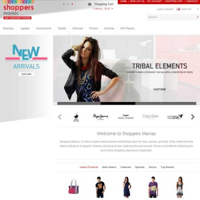 Скачать Shoppers Maniac Opencart Fully Responsive Theme на сайте rus-opencart.info