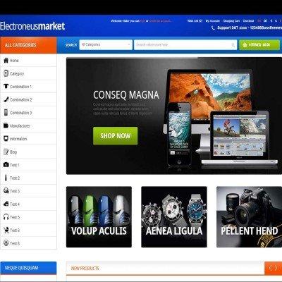 Скачать Responsive OpenCart Theme - Boss Electronues на сайте rus-opencart.info