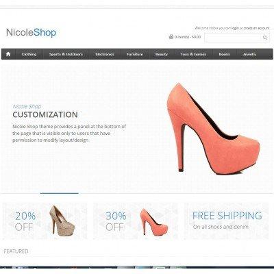 Скачать Nicole Shop opencart theme на сайте rus-opencart.info