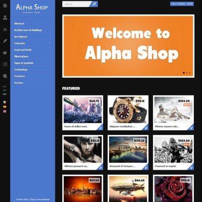 Скачать themeforest alpha shop на сайте rus-opencart.info
