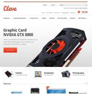 Скачать Cleve Modern & Responsive OpenCart Theme на сайте rus-opencart.info