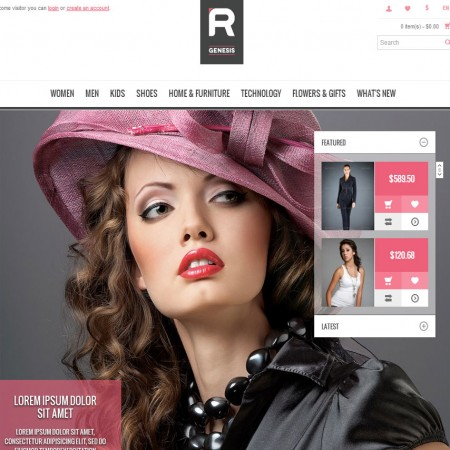 Скачать Cupid - R.Gen OpenCart Store Template на сайте rus-opencart.info