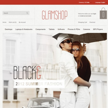 Скачать GlamShop Modern OpenCart Theme на сайте rus-opencart.info