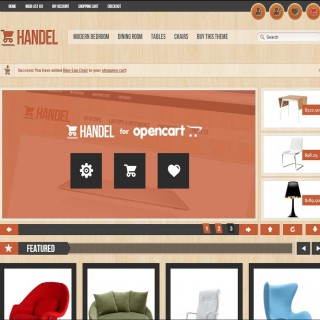 Скачать Handel - Unique & Modern OpenCart Template на сайте rus-opencart.info