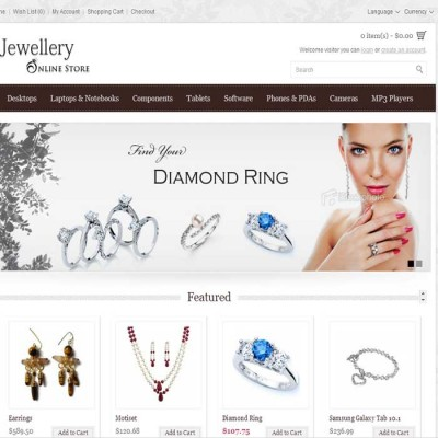 Скачать Jewellery Online Store на сайте rus-opencart.info