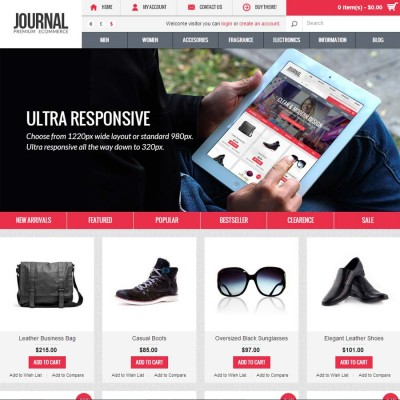 Скачать Journal - Premium & Responsive OpenCart Theme на сайте rus-opencart.info