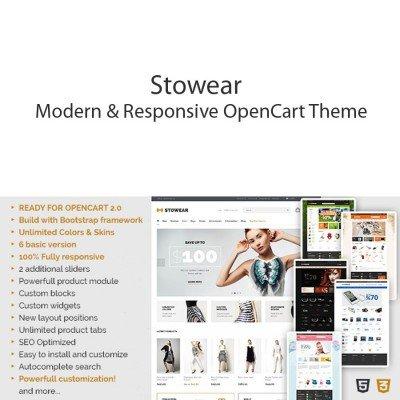 Скачать Stowear - Modern & Responsive OpenCart Theme на сайте rus-opencart.info