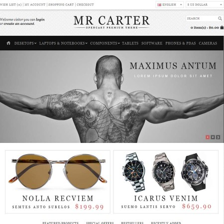Скачать Mr Carter - OpenCart Premium Theme на сайте rus-opencart.info