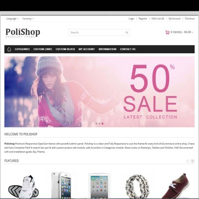 Скачать Polishop - Responsive OpenCart Theme на сайте rus-opencart.info