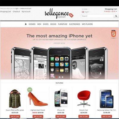 Скачать Sellegance Responsive  OpenCart Theme на сайте rus-opencart.info
